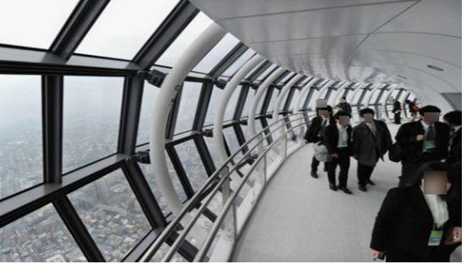 Tokyo Skytree spiral ramp