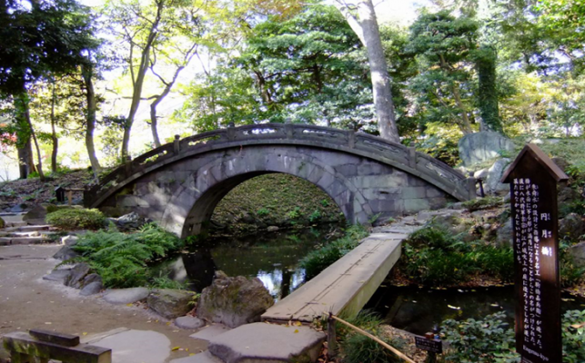 Koishikawa Korakuen Garden Tokyo with Bridge