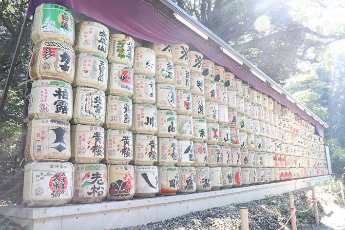 Meiji Jingu Shrine Sake barrels