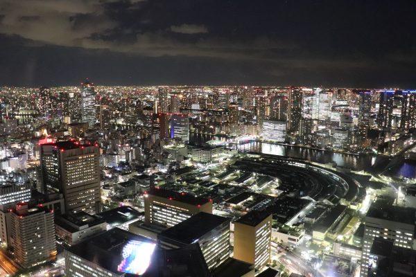 TOKYO, Christmas Lights at Caretta Shiodome Sky View