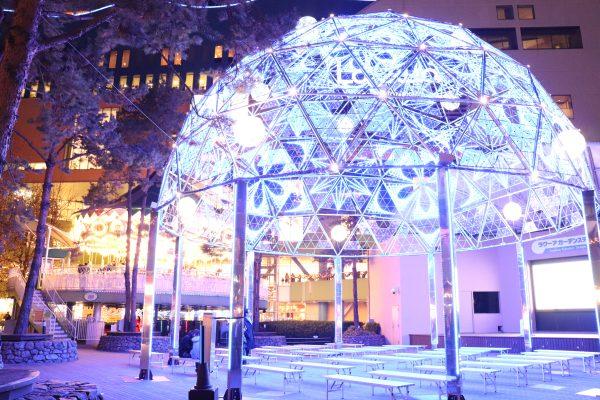 TOKYO Christmas Lights at Tokyo Dome City Garacsy Dome Blue
