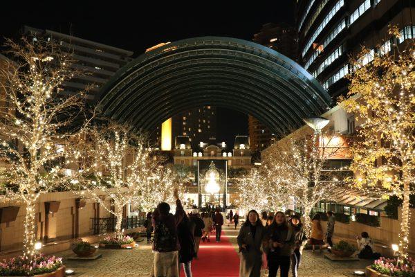 TOKYO Yebisu Garden Place Christmas Lights event Chandelier