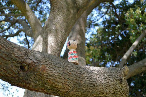 Kokeshi on wood