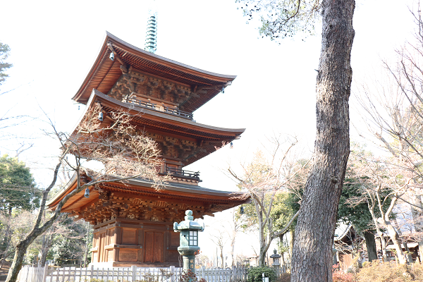 Three storied pagoda