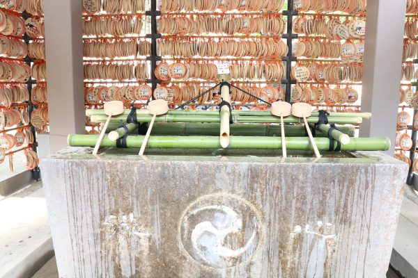 Imado shrine Chozuya in Asakusa Japan
