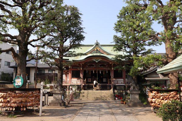 Imado shrine main in Asakusa Japan