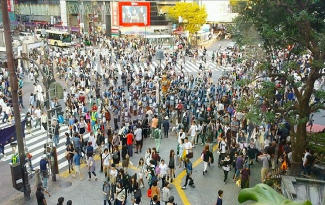 Shibuya scramble crossing in Tokyo Japan