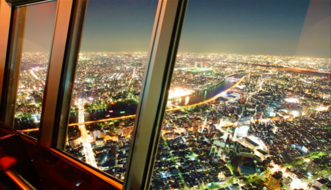 Tokyo Skytree Night from deck