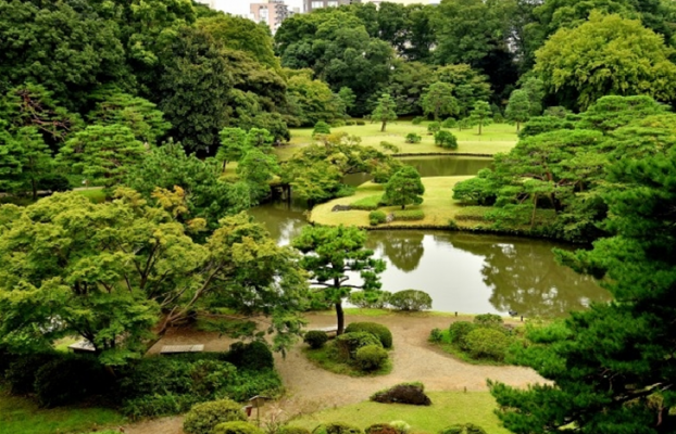 TOKYO Rikugien Garden in Japan