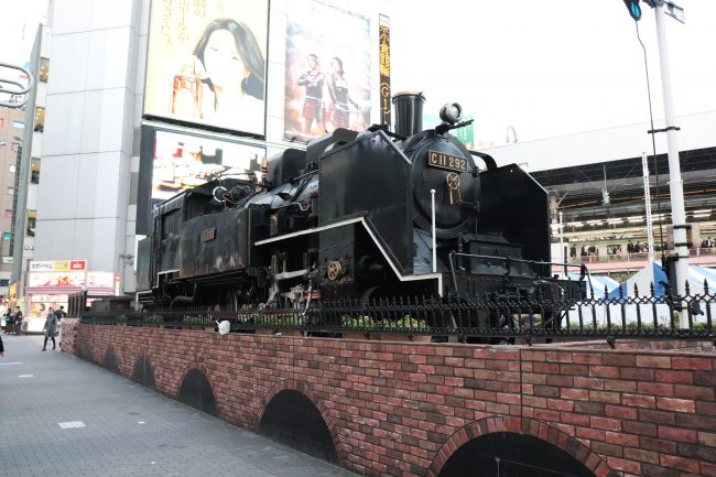 Steam locomotive Shinbashi in Tokyo