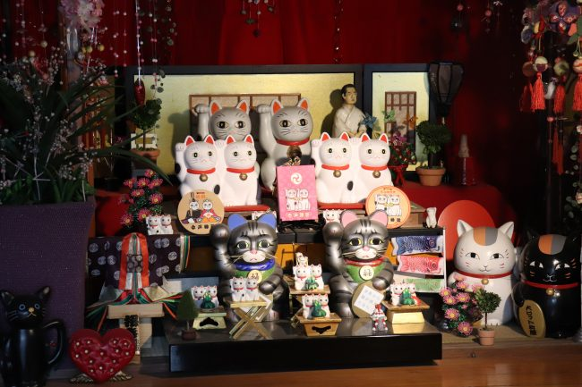 Imado shrine lucky cat collections in Asakusa Japan